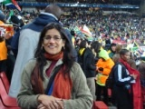 Martha Saavedra at Ellis Park in Johannesburg for the 2009 Confederations Cup